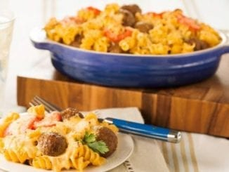 Back to School Meals In a Hurry: Baked Meatball Mac and Cheese | Birminghamparent.com
