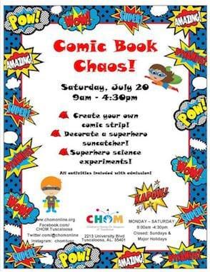 Comic Book Chaos at CHOM!