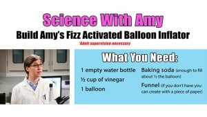 Science with Amy - Build a Fizz Activated Balloon Inflator